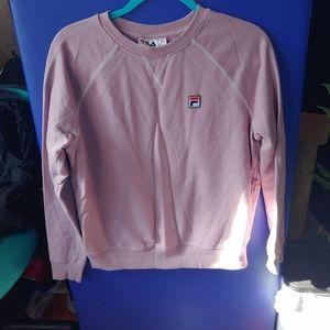 Light purple FILA crew neck sweatshirt